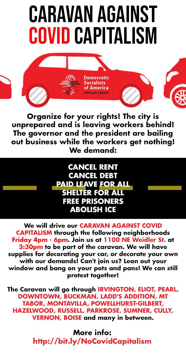 Caravan Against Covid Capitalism